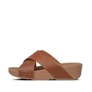 Womens LULU Leather Slides