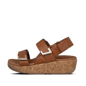 Womens Remi Leather Back-Strap-Sandals