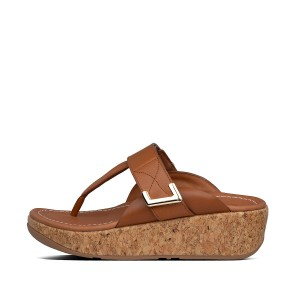 Womens Remi Leather Toe-Post Sandals