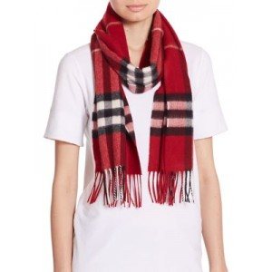 Parade Red Giant Check Cashmere Scarf