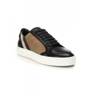 Salmond House Check & Leather Sneakers