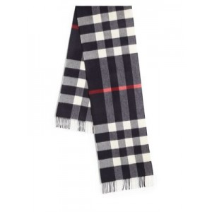 Cashmere Checked Wool Scarf
