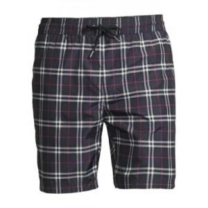 Checkered Cotton Shorts