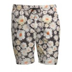 Daisy Scribble Print Drawstring Swim Shorts