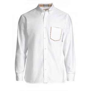 Harry White Check Pocket Button-Down