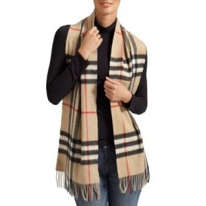 Classic Giant Check Cashmere Scarf