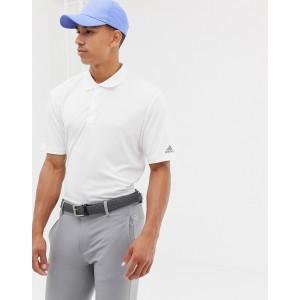 adidas Golf Bold Logo Polo In White
