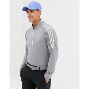 adidas Golf Half Zip Sweat In Gray