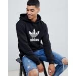 adidas Originals adicolor pullover hoodie with Trefoil logo in black CW1240