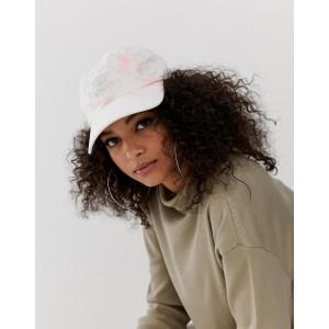 adidas Originals trefoil cap in tie dye pink