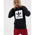 adidas Skateboarding pullover hoodie with blackbird logo in black cw2358