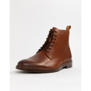 ALDO Alenia lace up boots in tan leather