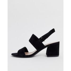 ALDO Arievia suede flared block heeled sandals in black