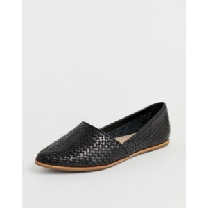 ALDO Blanchette leather flat shoes in black
