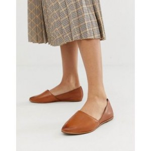 ALDO Blanchette leather flat shoes in tan
