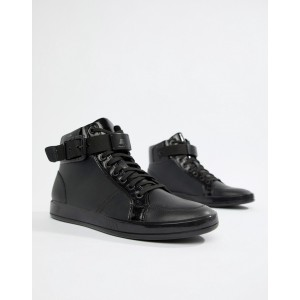 ALDO Edywien hi top sneakers in black