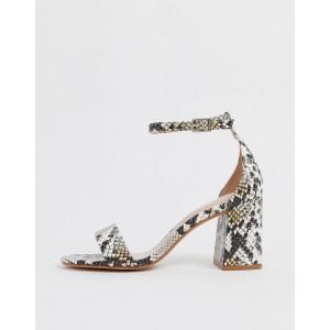 ALDO Eteisa block heeled sandals in snake