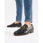 ALDO Gwiradien bar loafers in black leather