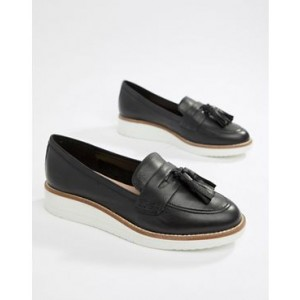 ALDO Leather Chunky Sole Tassel Loafers