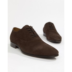 ALDO Legawia toe cap lace up shoes in brown leather