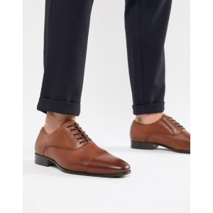 ALDO Legawia toe cap lace up shoes in tan leather