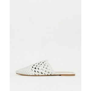 ALDO Rylan leather woven mules in white