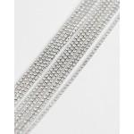 ALDO silver diamante choker necklace