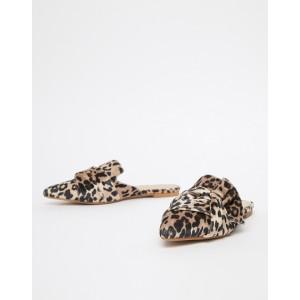 ALDO Unalillan faux leopard velvet knotted slip on mules