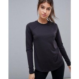 ASOS 4505 long sleeve loose fit top with high neck in texture