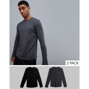 ASOS 4505 training long sleeve t-shirt with quick dry 2 pack save