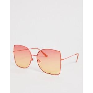 ASOS DESIGN 70s metal square sunglasses