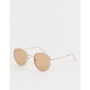 ASOS DESIGN 90s enamel round sunglasses