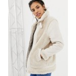 ASOS DESIGN aviator jacket with faux fur outer