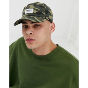 ASOS DESIGN baseball cap in camo print with MMXVI patch
