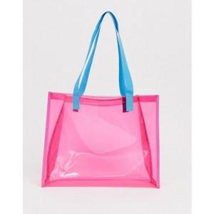 ASOS DESIGN beach plastic shopper bag