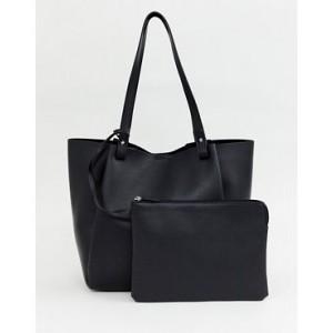 ASOS DESIGN bonded shopper bag with removable tablet case