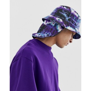 ASOS DESIGN bucket hat in tie dye with neck cover