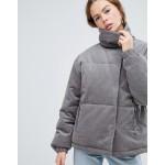 ASOS DESIGN cord padded jacket