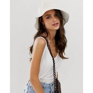 ASOS DESIGN cotton fisherman bucket hat