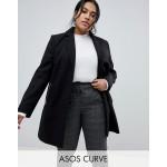 ASOS DESIGN Curve boyfriend coat with zip pocket