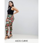 ASOS DESIGN Curve Leggings In Floral Chain Print