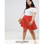 ASOS DESIGN Curve mini skater skirt