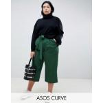 ASOS DESIGN Curve mix & match culottes with tie waist