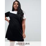 ASOS DESIGN Curve mono color block t-shirt dress