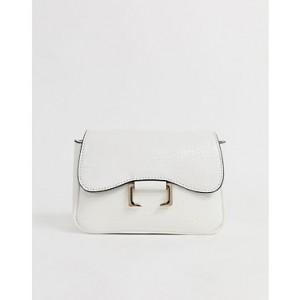ASOS DESIGN curved mini 90s shoulder bag in croc