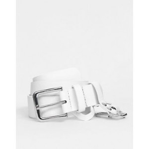 ASOS DESIGN dogclip and chain waist and hip belt