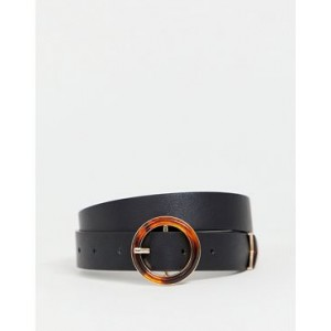 ASOS DESIGN hip and waist belt with circle tort buckle and tip