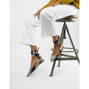 ASOS DESIGN Laney tie leg ballet flats