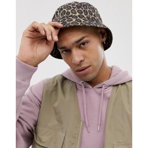 ASOS DESIGN leopard print bucket hat