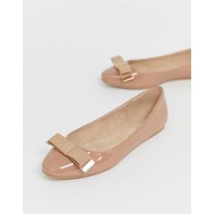 ASOS DESIGN Lexy bow ballet flats